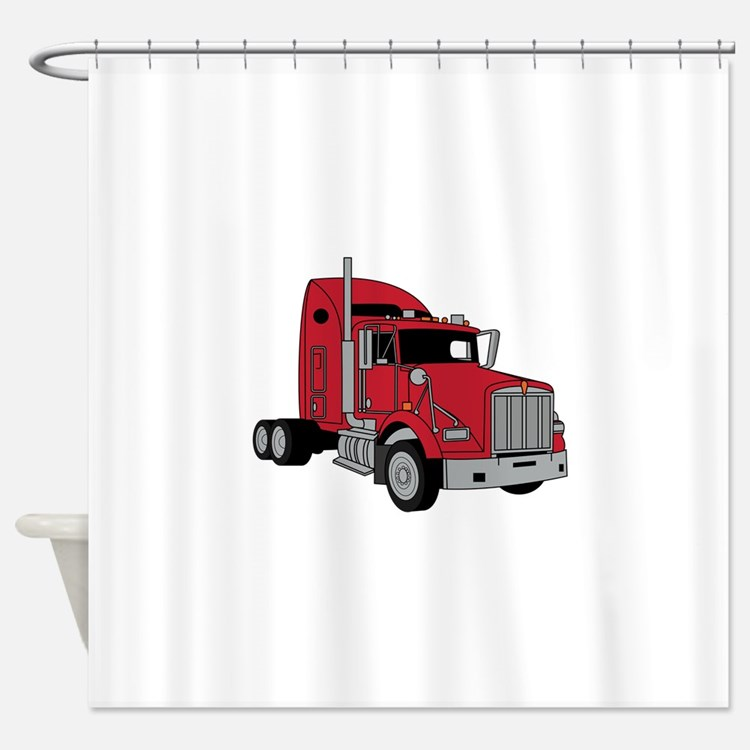 Tractor Shower Curtain : Kenworth truck shower curtains fabric