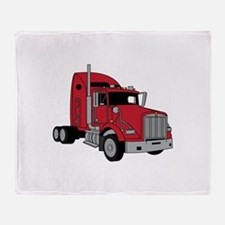 Kenworth Tractor Throw Blanket