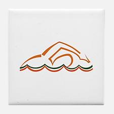 Swimmer Tile Coaster