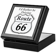 Driving rt 66 Keepsake Box