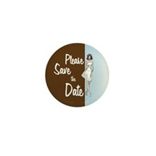 Mod Chic Save the Date Mini Button (10 pack)