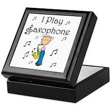 I Play Saxophone Keepsake Box