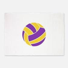Light Fill Volleyball 5'x7'Area Rug