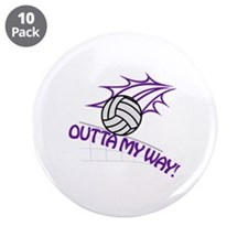 "Outta my Way 3.5"" Button (10 pack)"