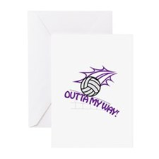 Outta my Way Greeting Cards