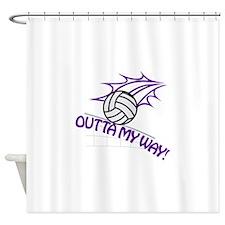 Outta my Way Shower Curtain