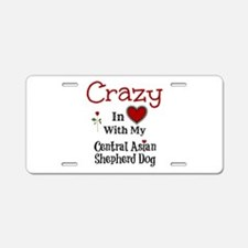 Central Asian Shepherd Dog Aluminum License Plate