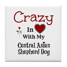 Central Asian Shepherd Dog Tile Coaster