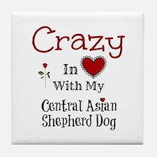 Central Asian Shepherd Dog Tile Coaster