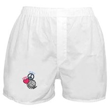 Peace Love Volleyball Boxer Shorts
