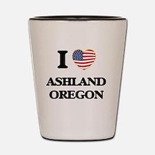 I love Ashland Oregon Shot Glass