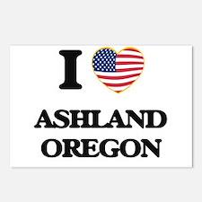 I love Ashland Oregon Postcards (Package of 8)