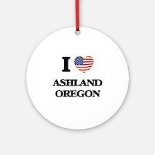 I love Ashland Oregon Ornament (Round)