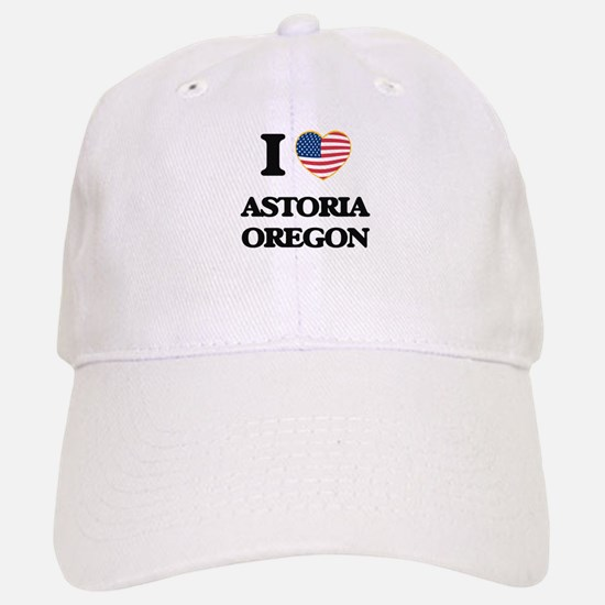 I love Astoria Oregon Baseball Baseball Cap
