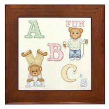 Teddy Tots Alphabet Bears Framed Tile