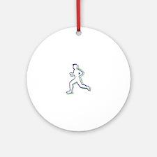 Runner Outline Ornament (Round)