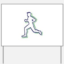 Runner Outline Yard Sign