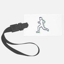 Runner Outline Luggage Tag