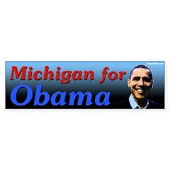 Michigan for Obama bumper sticker