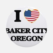 I love Baker City Oregon Ornament (Round)