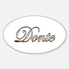 Gold Donte Decal