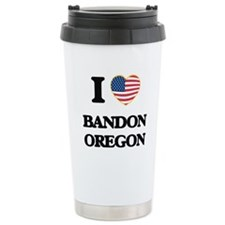 I love Bandon Oregon Travel Coffee Mug