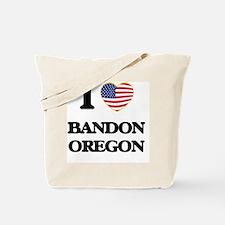 I love Bandon Oregon Tote Bag