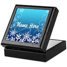Frozen Snowflakes Custom Name Keepsake Box