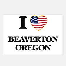 I love Beaverton Oregon Postcards (Package of 8)