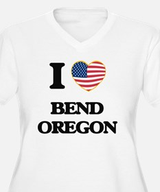 I love Bend Oregon Plus Size T-Shirt