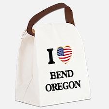 I love Bend Oregon Canvas Lunch Bag