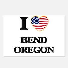 I love Bend Oregon Postcards (Package of 8)