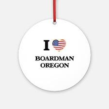 I love Boardman Oregon Ornament (Round)