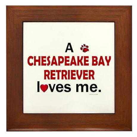 A Chesapeake Loves Me Framed Tile