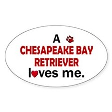 A Chesapeake Loves Me Oval Decal