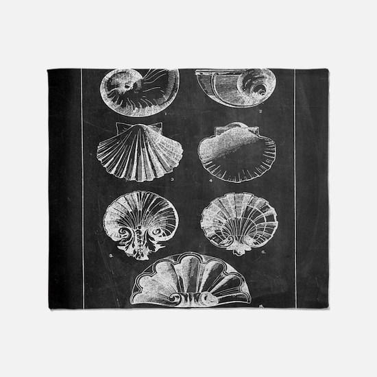 rustic vintage seashells Throw Blanket