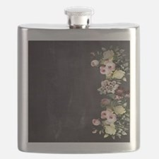 shabby chic flowers Flask