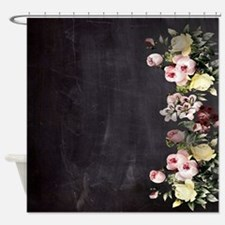 shabby chic flowers Shower Curtain