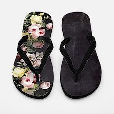 shabby chic flowers Flip Flops