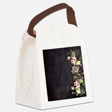 shabby chic flowers Canvas Lunch Bag