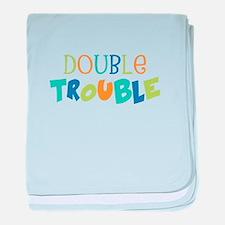 Double Trouble Blues baby blanket