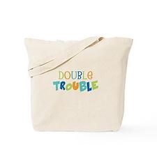 Double Trouble Blues Tote Bag