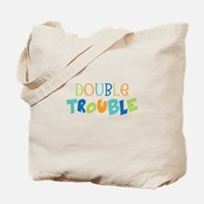 Double Trouble Blues Tote Bag