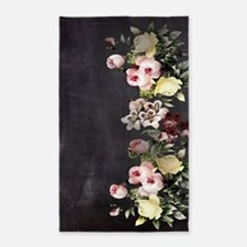 shabby chic flowers Area Rug