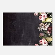 shabby chic flowers Postcards (Package of 8)