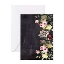 shabby chic flowers Greeting Cards