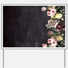 shabby chic flowers Yard Sign