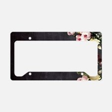 shabby chic flowers License Plate Holder