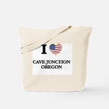 I love Cave Junction Oregon Tote Bag