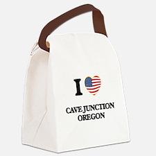 I love Cave Junction Oregon Canvas Lunch Bag